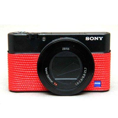 画像1: Sony RX100 III, RX100 IV専用カスタムレザー [Red]